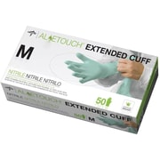 "Aloetouch® Extended Cuff Chemo Nitrile Exam Gloves, Green, Small, 12"" L, 50/Box"