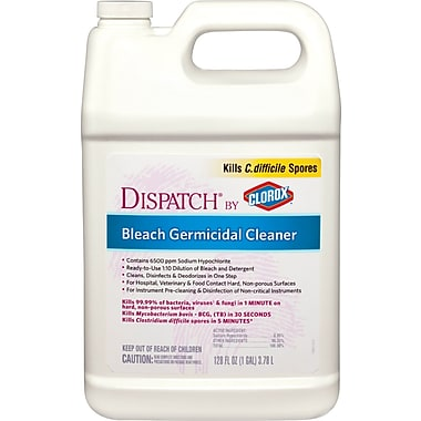 Dispatch® Hospital Cleaner Disinfectants with Bleach, 64 oz, Refill, 6/Pack