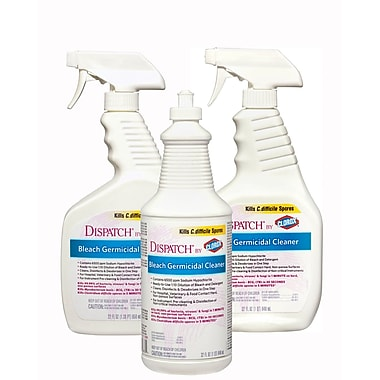 Dispatch® Hospital Cleaner Disinfectants with Bleach, 32 oz, Spray, 6/Pack