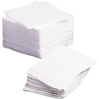 Medline Dry Disposable Washcloths, White, 13in. L x 12 1/2in. W, 1080/Pack