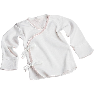Medline Tie-side Infant Shirts, 3 Month, Short Sleeve