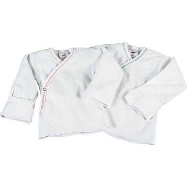 Medline Snap-side Infant Shirts, 6 Month, Mitten Cuff