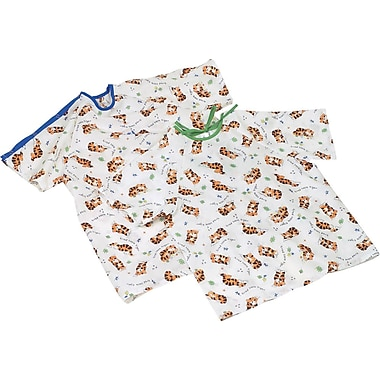 Tired Tiger Print Pediatric Gowns