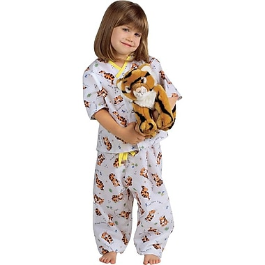 Tired Tiger Pediatric Pajama Pants, Tired Tiger Print, Small