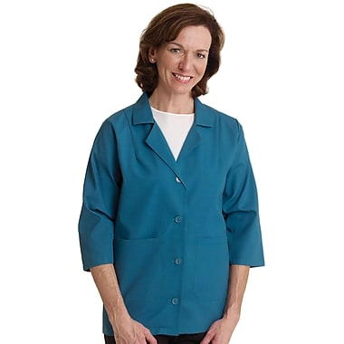 Medline Ladies Three-Quarter Length Sleeve Smock, Rich Royal, XL