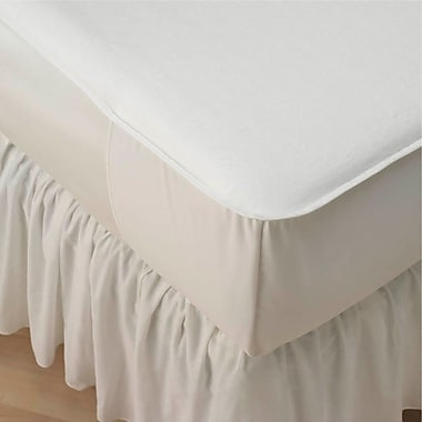 New Dimensions Unbleached 50/50 Blended Mattress Pads, 76in. L x 36in. W