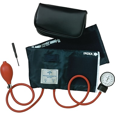 Medline MDS9388LF Neoprene Handheld Aneroid Adult Large Sphygmomanometers, Black