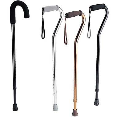 Guardian® Handle Cane, Black, Offset Handle, 6/Pack