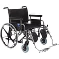 Medline Excel Shuttle Wheelchair, 28in. W x 20in. D Seat, Removable Desk Length Arm, Elevating Leg