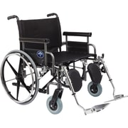 "Medline Excel Shuttle Wheelchair, 28"" W x 20"" D Seat, Removable Desk Length Arm, Elevating Leg"