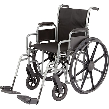 Medline K3 Lightweight Wheelchairs, 18in. W x 16in. D Seat, Removable Full Arm, Elevating Leg