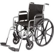 "Medline K3 Lightweight Wheelchairs, 16"" W x 16"" D Seat, Removable Desk Length Arm, Elevating Leg"
