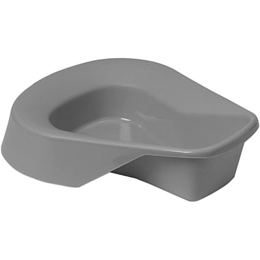 Medline Pontoon Bedpans, Graphite, 14in. L x 11in. W x 4in. H, 20/Pack