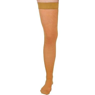 Curad® 15-20mmHg Thigh High Compression Hosiery, Beige, D Size, Regular Length, Each