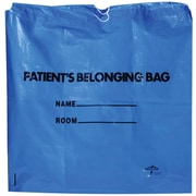 Medline Drawstring Patient Belonging Bags, Clear, 250/Pack