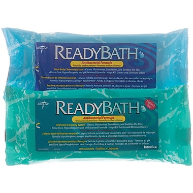 ReadyBath® Premium Antibacterial Washcloths, Scented, 24/Pack