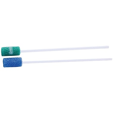 Dentips® Oral Swabsticks, Green, Treated, 1000/Pack, 10/Pack