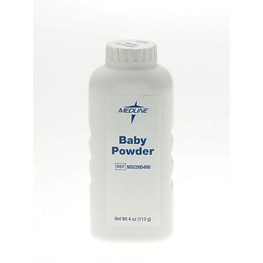 Medline Talc Baby Powders, 4 oz, 48/Pack