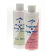 Medline Apple Strawberry Fragranced Shampoo and Body Wash, 8 oz, 48/Pack, Flip Top Bottle