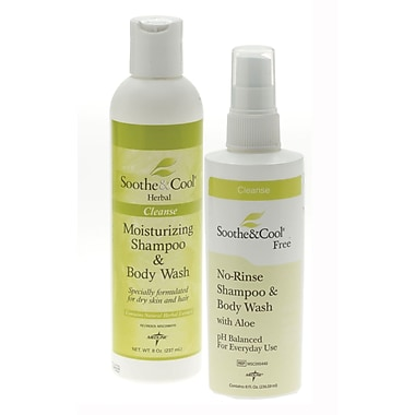 Soothe & Cool® Herbal Shampoo and Body Washes, 128 oz, 4/Pack, Screw Top Bottle
