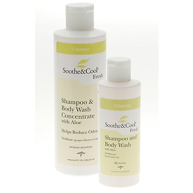 Soothe & Cool® Shampoo and Body Washes, 4 oz, 48/Pack, Flip Top Bottle