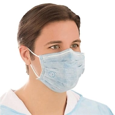 BioMask™ Antimicrobial Convex-shaped Masks, Blue, 200/Pack