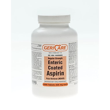 Aspirin Enteric Coated Tablets, 1000 Tablets/Bottle