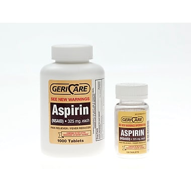 Aspirin Tablets, 1000 Tablets/Bottle