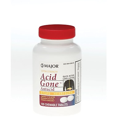 Acid Gone Antacid Tablets, 100 Tablets/Bottle