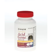 Medline - Major Pharmaceutical 536560N Acid Gone Antacid Tablets 100 Tablets/Bottle