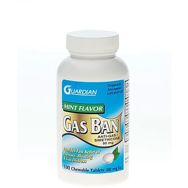 Anti-gas Chew Tabs, 80 mg, 100 Tablets/Bottle