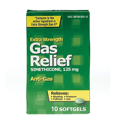 Prevacid Gas Relief Extra Strength Simethicone Softgels, 125 mg, 10 Softgels/Box