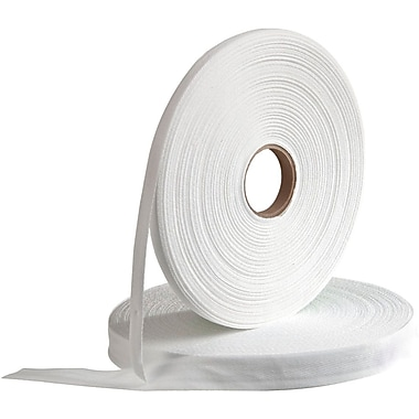 Medline Bleached Twill Tapes, White, 1/4in. Size