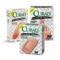 Curad® Extreme Hold Bandages, Brown, XL Size, 3 3/4in. L x 2in. W, 10 Bandages/Box, 24 Boxes/Case