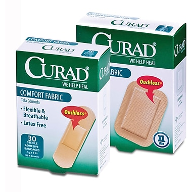 Curad® Comfort Fabric Bandages, Tan, XL Size, 3 3/4