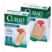 "Curad® Comfort Fabric Bandages, Tan, 3"" L x 3/4"" W, 30 Bandages/Box, 24 Boxes/Case"