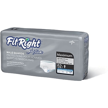 FitRight™ Active Male Guards, Blue Acquisition Layer, 6in. x 11in., 208/Pack