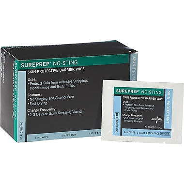 Sureprep® No-sting Skin Protectant Wipes, 50/Box