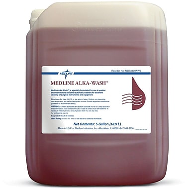 Medline Alka-wash Detergents, 15 gal Size