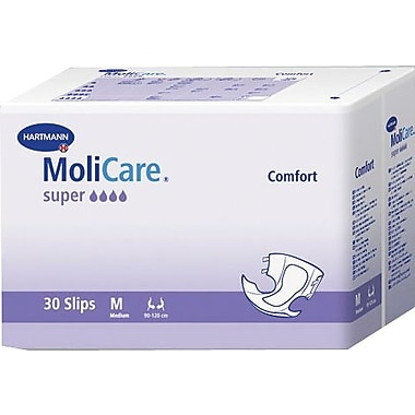 Molicare® Adult Comfort New Super Extended Capacity Brief, White, Large, 90/Pack