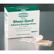 "Caring® Adhesive Bandages, Natural, 3"" L x 1"" W, 100 Bandages/Box, 12 Boxes/Case"