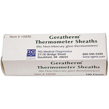 Rg Medical Diagnostics Oral Sheaths for Geratherm Thermometers, Latex, 100/Box