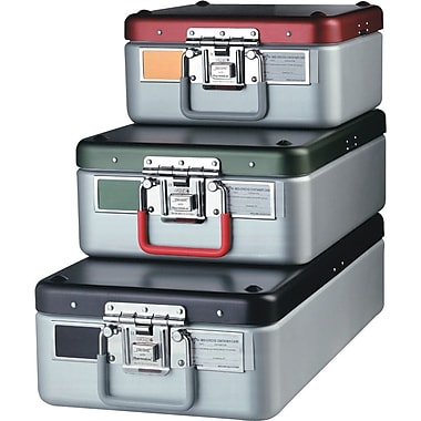 Steriset® Surgical Inst. Sterilization Containers w/Flat Bottoms, 18in. L x 11in. W x 5 1/4in. H