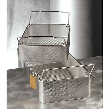 Medline Wire Mesh Instrument Sterilization Trays, Half Size, 10in. L x 9 1/2in. W x 4in. H