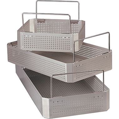 Medline Instrument Sterilization Trays, Three Quarter Size, 15 3/4in. L x 9 1/2in. W x 4in. H