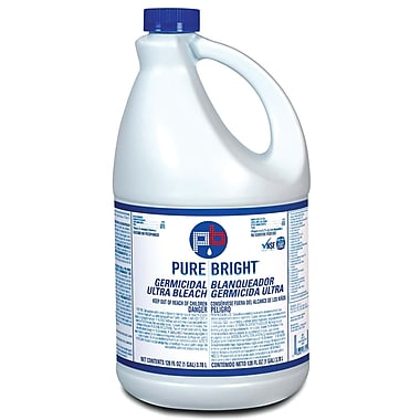 Pure Bright  Liquid Bleach, Fragrance-Free, 1 gal., 4/Case