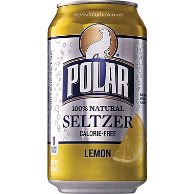 Polar Lemon Seltzer, 12 oz. Cans, 24/Pack