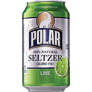 Polar Lime Seltzer, 12 oz. Cans, 24/Pack