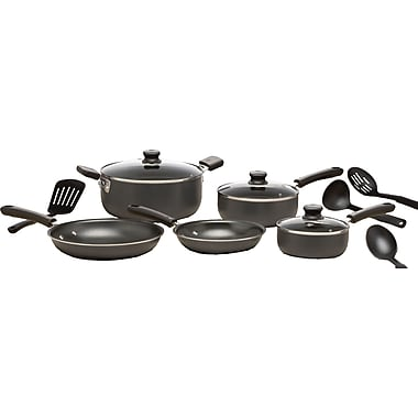 WearEver 12-Piece Non-Stick Cookware Set, Grey