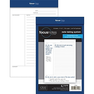 FocusNotes Legal Pad, Junior Size, 5in. x 8in.
